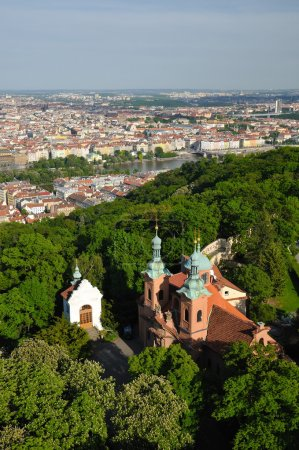 Church of Saint Vavrinec from Petrin Hill
