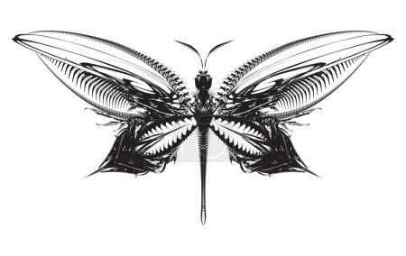 Illustration pour Papillon mécanique abstrait vectoriel - image libre de droit