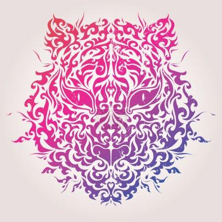 Abstract tiger mask vector illustration