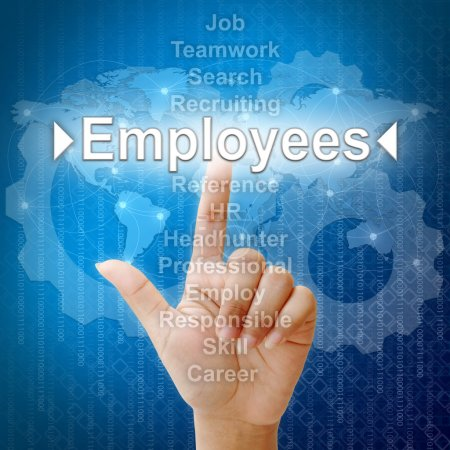 Employees ,Business concept in word for Human resources