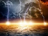 Dramatické apokalyptické pozadí