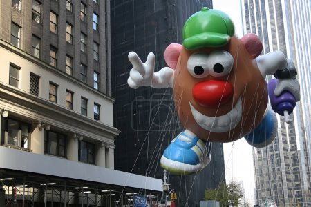 Photo for Mr.Potato Head Balloon at the Macy's Thanksgiving day Parade - Royalty Free Image