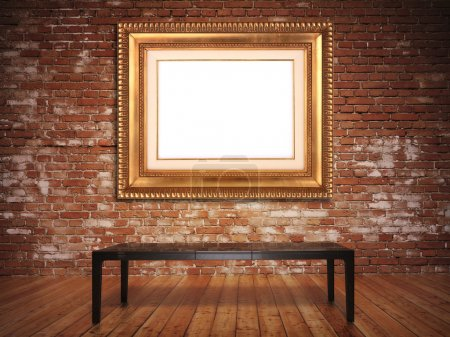 Elegant frame with a rustic background