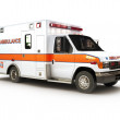 Ambulance on a white background, part of a first r...