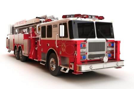 Firetruck on a white background
