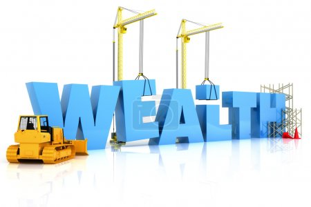 Wealth building , under construction or repair iso...
