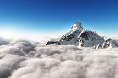 Photo for Mountain above the clouds - Royalty Free Image