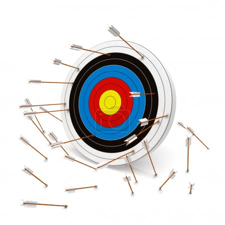 Photo for Multiple arrows missing the target. - Royalty Free Image