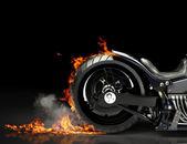 Motocykl vyhoření