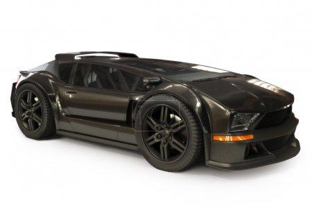 Custom black exotic sports car