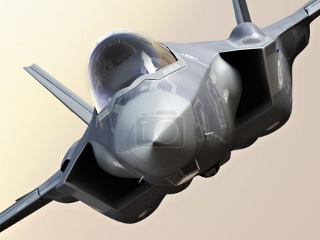 F35-A lightning closeup