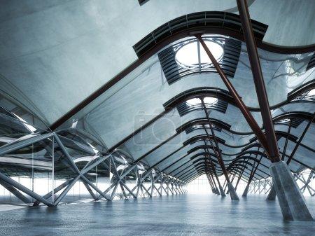 Modern futuristic empty abstract interior