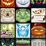 Set of 12 Halloween square avatars....