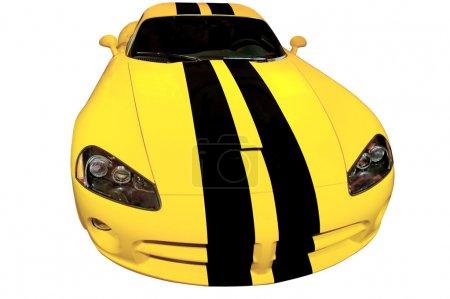 Poster: Yellow Racing Car
