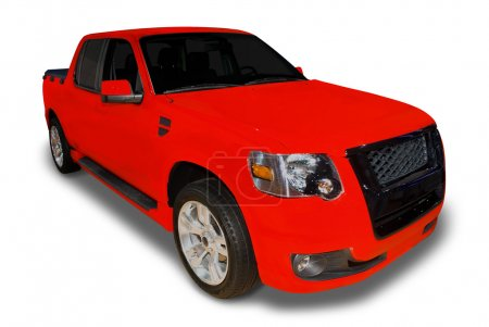 Red Pick Up Truck