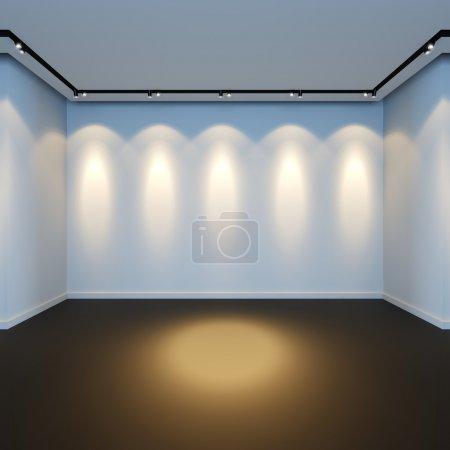 Empty white room.