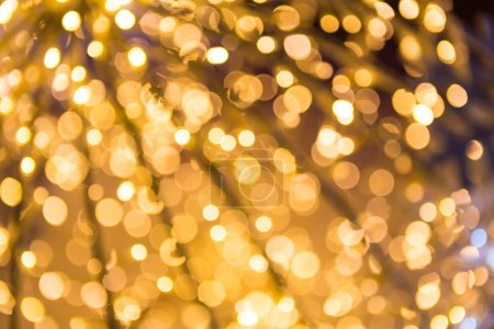 Photo for Bokeh defocused gold abstract christmas background - Royalty Free Image
