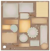 Vector set: Vintage postcard and blank paper designs (variety