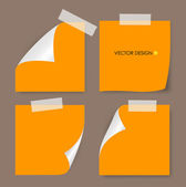 Collection of various papers, ready for your message. Vector ill