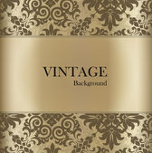 Seamless retro pattern background with vintage label. Vector ill