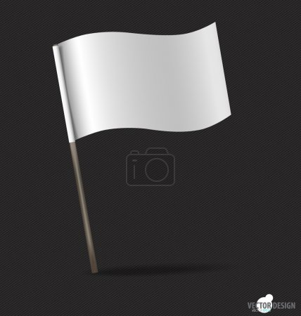 White flag. Vector illustration.