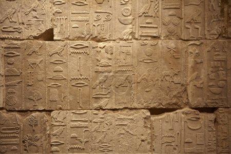 alte ägyptische Schriften auf Steinhintergrund