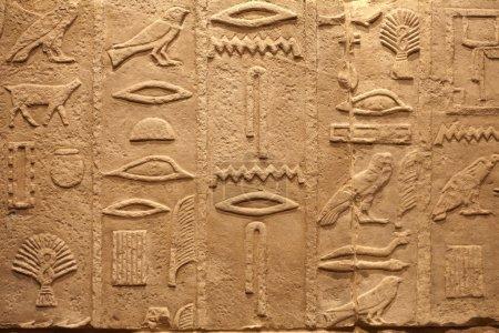 alte ägyptische Schriften auf Stein