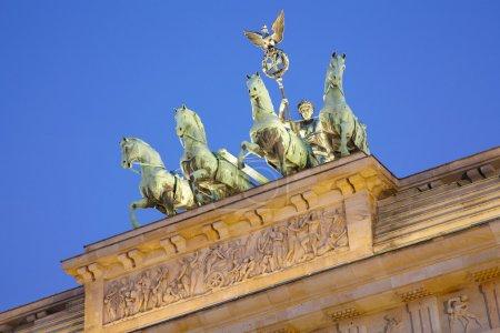 Brandenburg gate detail, Berlin