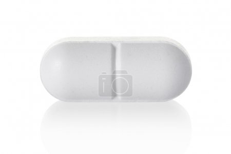 Medical pill tablet on white