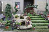 Výstava san pellegrino v fiore ve viterbo. události v san pellegrino v fiore vidí historického města viterbo