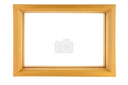 Photo for Wood frame isolated on white - Royalty Free Image
