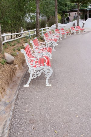 Red chair row seating
