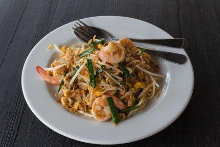 Fried noodle with shrimp.