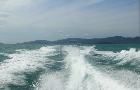 Big wave of tropical sea