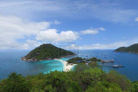 Bird eye view of Nang yuan island,Thailand
