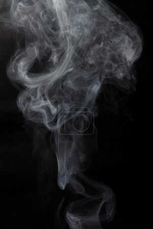 Abstract smoke on gradient background