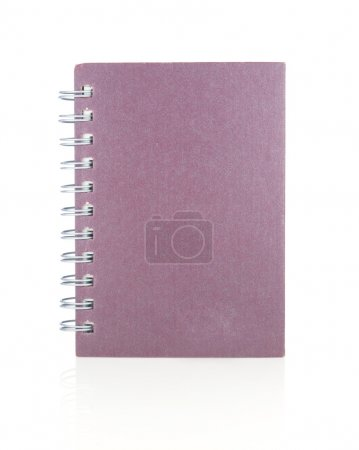 notebook paper  isolated on white