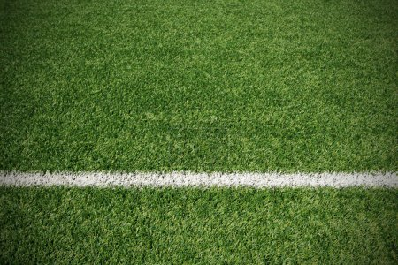 Photo for Soccer ball green grass field - Royalty Free Image