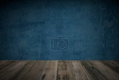 Wooden floor and grunge background