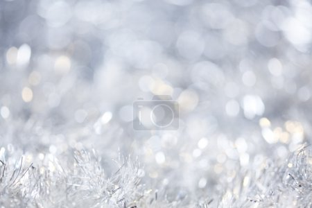 Photo for Silver Christmas background - Royalty Free Image
