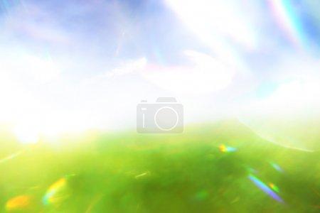 Photo pour Fond bleu et vert - image libre de droit
