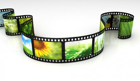 Photo for Filmstrip with images - Royalty Free Image