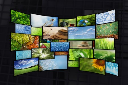 Photo for Collage of images background - Royalty Free Image