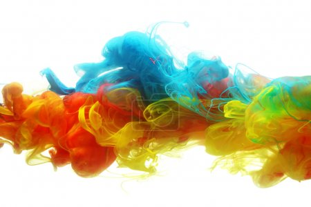 Colorful ink in water abstract...