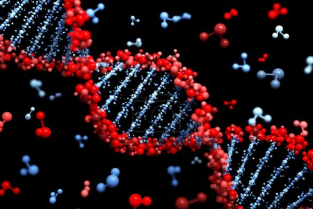 Photo for DNA background - Royalty Free Image