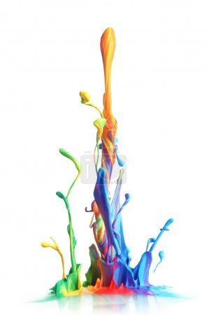 Photo for Colorful paint splashing - Royalty Free Image