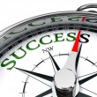 Success green word indicated by compass conceptual...