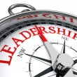 Leadership red word indicated by compass conceptua...