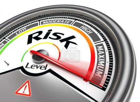 Risk level conceptual meter