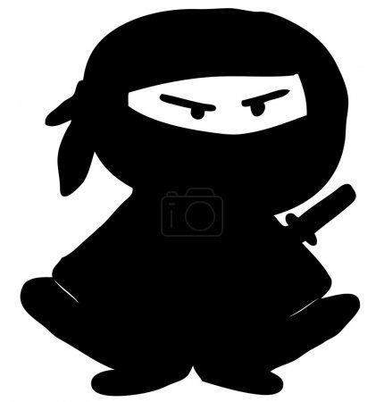 Ninja cartoon character.